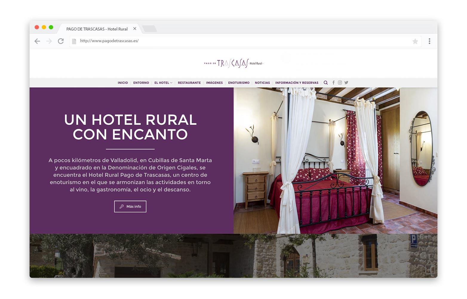 PAGO DE TRASCASAS - Diseño Web - alQuimia Publicidad - Valladolid