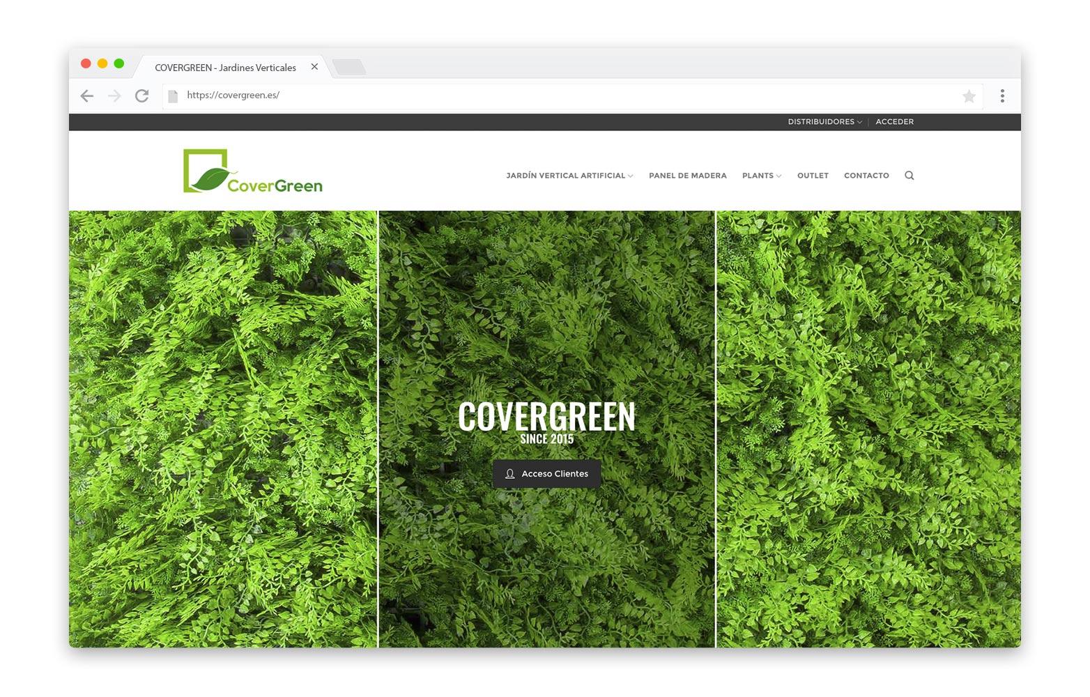 COVERGREEN - Diseño Web - alQuimia Publicidad - Valladolid