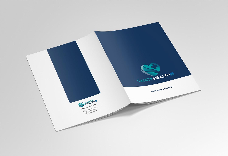 Sanity Health - Diseño Gráfico - alQuimia Publicidad - Valladolid