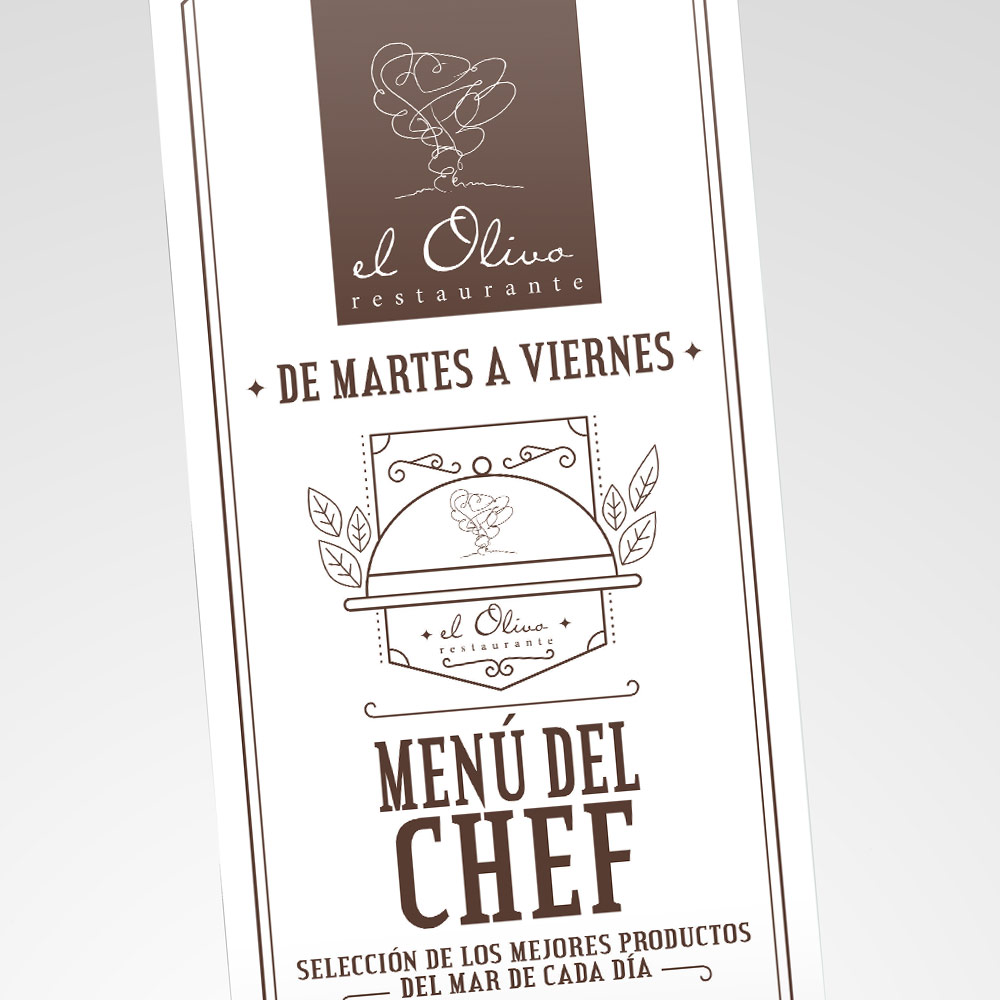 Restaurante el olivo - Diseño Gráfico - alQuimia Publicidad - Valladolid